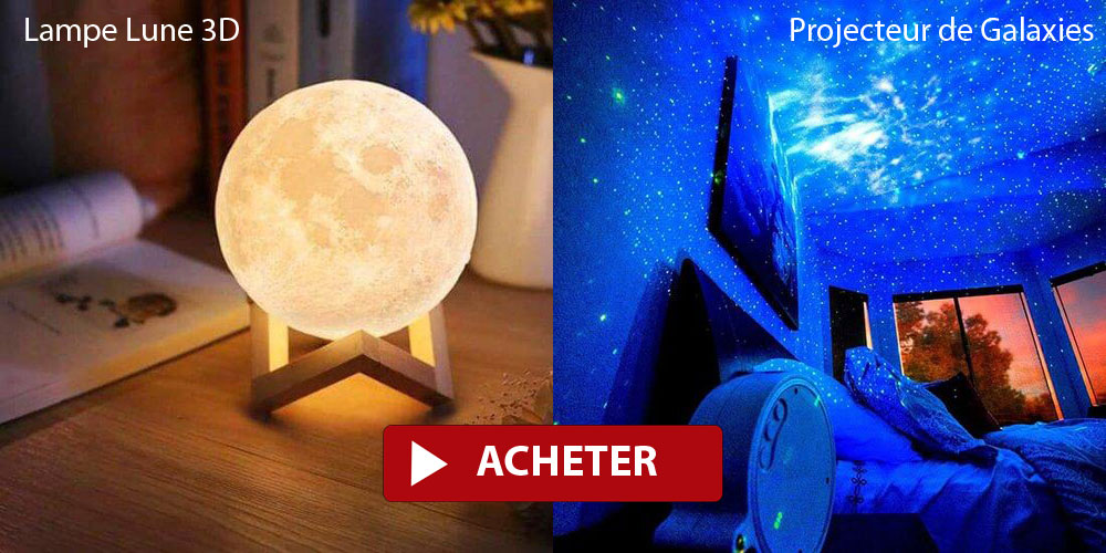 Moon lamp and galaxy projector